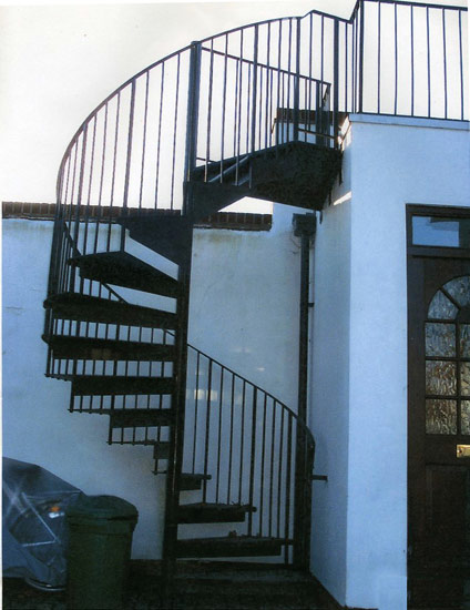 Forge Tenterden Kent Iron Spiral Staircase With Safety Gate